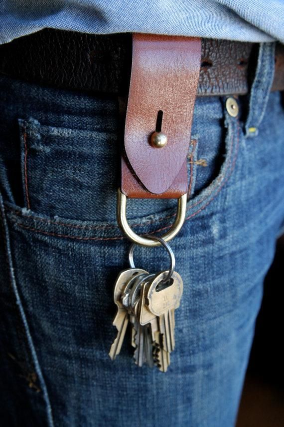 The combination of leather and brass makes even a key fob look luxe.