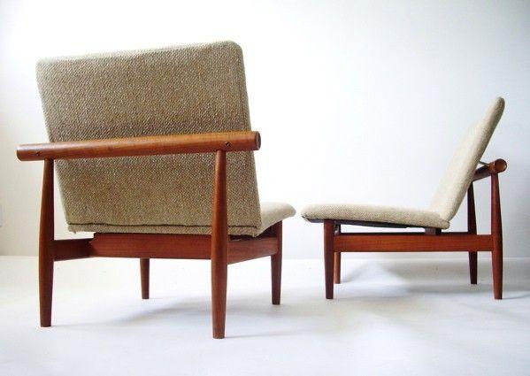 Pair of Finn Juhl Japanese Chairs, Model 137 - Modern Love: Mid-Century Modern Furniture, Lighting, Design