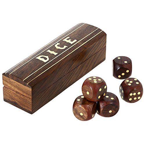 Indian Game Wooden Dice Set In A Box Brass Inlay Art 5.25 X 1.5 Inch ShalinIndia http://www.amazon.com/dp/B00LAVKRNI/ref=cm_sw_r_pi_dp_9vKJvb01SPYEH