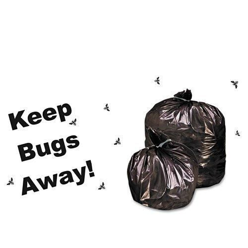 Stout - Insect-Repellent Trash Bags w/Pest-Guard 35gal 2mil 33 x 45 BLK 80/Box - Sold As 1 Box - Treated with all-natural PEST-GUARDTM insect repellent.