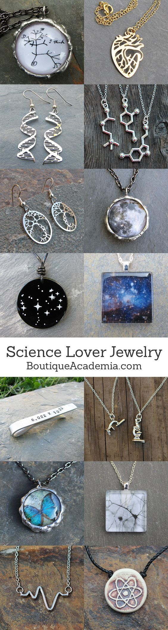 Jewelry for science lovers. Perfect for science teachers, students, researchers, and science enthusiasts.