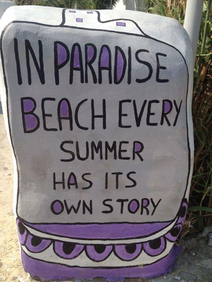 Paradise Beach at Mykonos (Mökene)    Mykonos, Lesvos, Μύκονος, Mökene, Mytillini, Athens, Tyre, Santorini, Oia, Fira, Greece, Grek, Summer, Holiday via Tanerozcelik.com