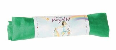 Play silks / zijden speeldoeken, klein formaat 53x53 cm. In diverse kleuren (smaragdgroen, koningsblauw, geel, roze, etc)