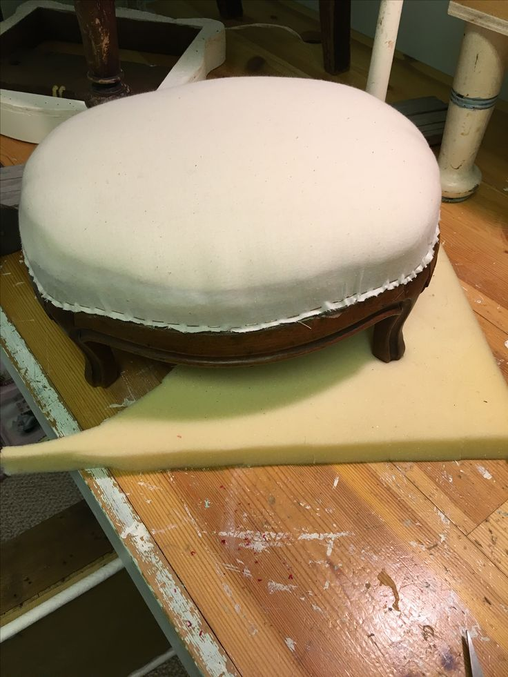 Redid stool and put a muslin cover on to keep neat.