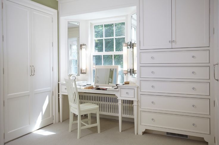 Inspired Dressing Tables look Minneapolis Farmhouse Closet Decorators with bay window Bedroom closet crystal knobs dressing dressing room jewelry Jewelry Drawer Jewelry Mirror