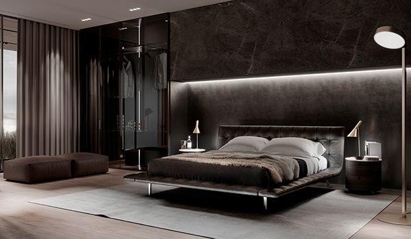 Dark Apartment Dezign Ark Beta Luxurious Bedrooms Bedroom Interior Luxury Bedroom Design Simple but luxurious bedroom photo