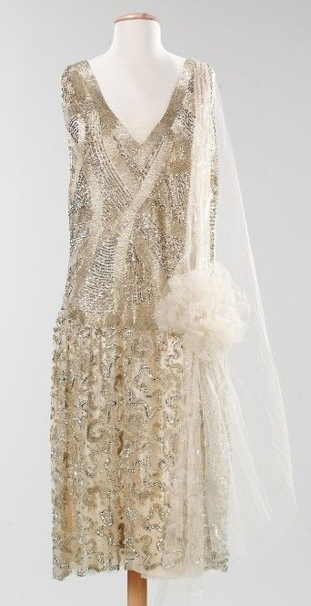 Silk and metal Evening Dress, French 1925~ Image © The Metropolitan Museum of Art~