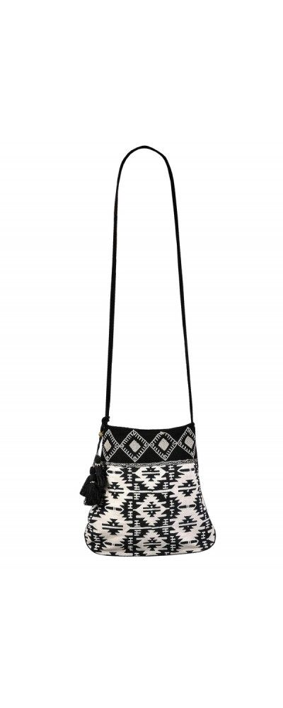 Lily Boutique Black and Ivory Aztec Beaded Crossbody Purse, $40 Black and Beige Aztec Pattern Purse, Cute Black and Ivory Aztec Purse, Aztec Geometric Crossbody Purse www.lilyboutique.com