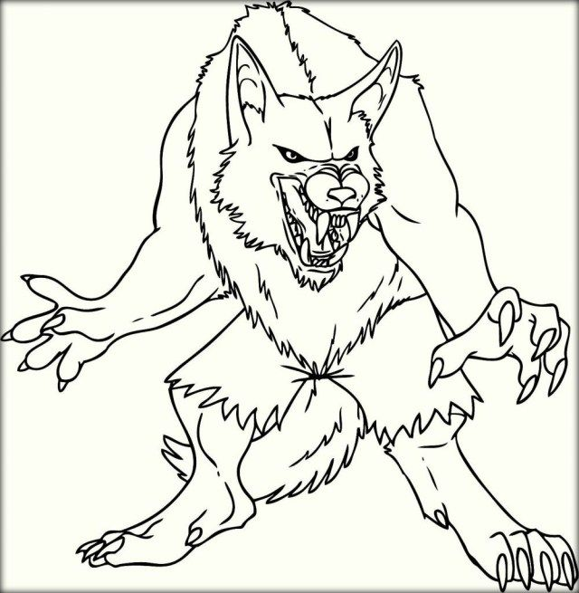 marvelous photo of werewolf coloring pages  monster