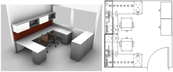 Small spaces design the perfect small office layout for two workers in a 10 x 10 benhar - Design for small office space photos ...