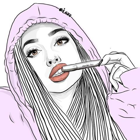 outline sketch drawings outlines draw drawing sketches cartoon profile instagram cool desenhos girly illustration hipster illustrations teenage chicks universexox tumbler