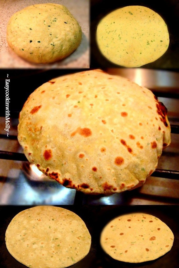 Gram flour (chickpea) flatbread More