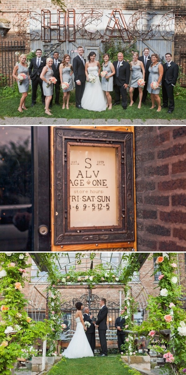 outdoor wedding venues minneapolis%0A Salvage One Wedding by Angela Renee Photography