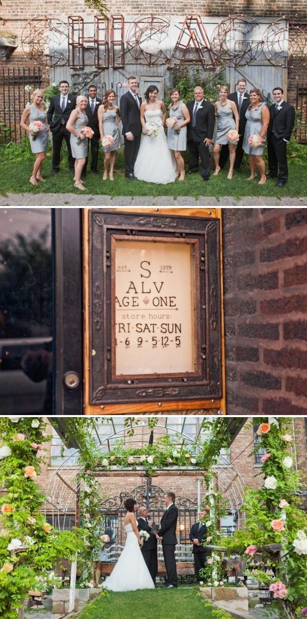 Salvage One Wedding by Angela Renee Photography