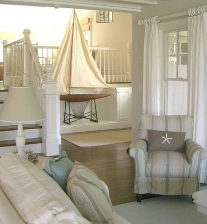 Beach House Decorating | 7 Beach House Interior Designs from Pinterest | http://nauticalcottageblog.com