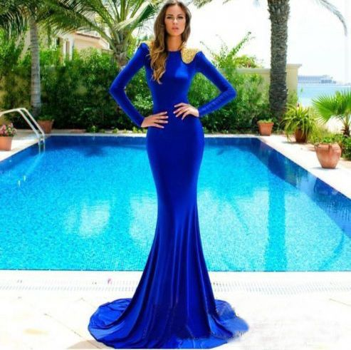 Sexy Women Blue Long Sleeve Cocktail Party Dress Evening Gown in Clothing, Shoes & Accessories, Women's Clothing, Dresses | eBay