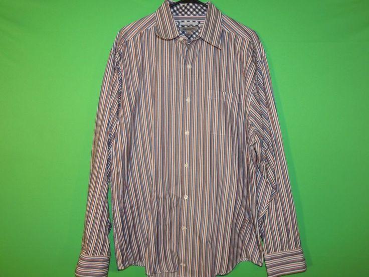 #JohnstonMurphy #ButtonFront #LongSleeve #Striped #Mens