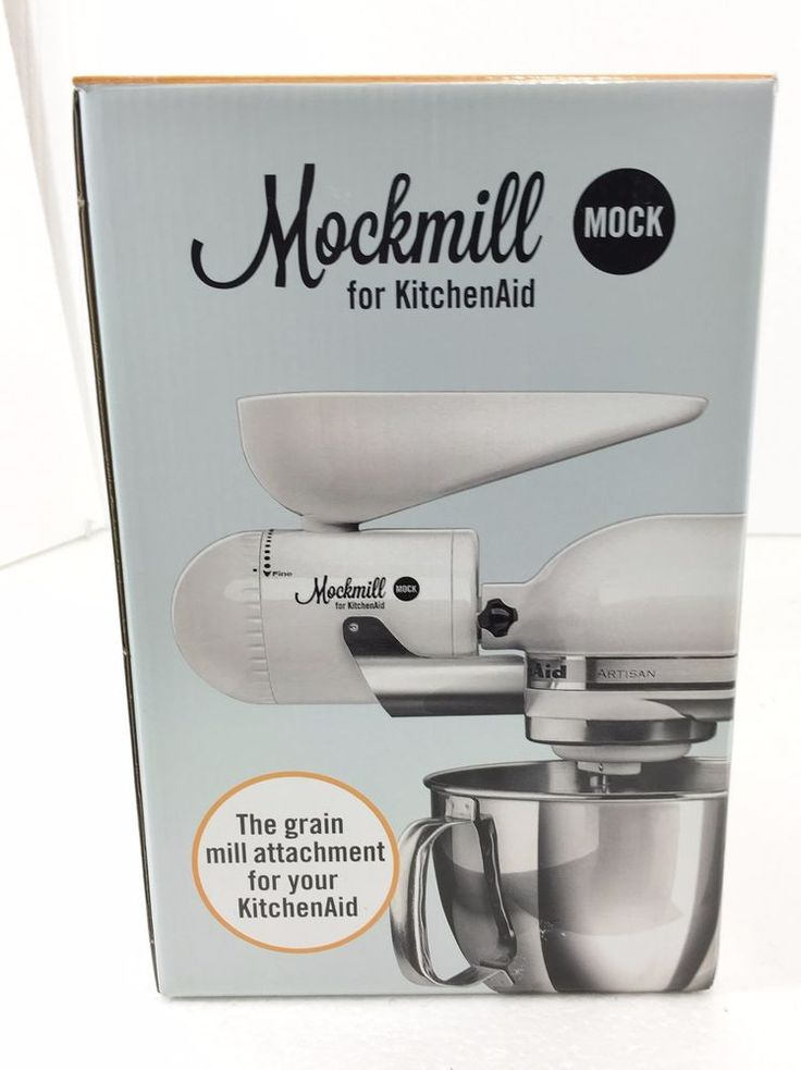 Mockmill kitchenaid white metal and ceramic grain mill