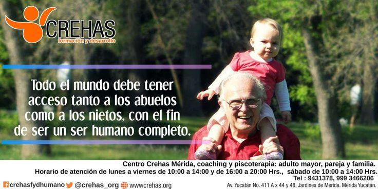 """""""El Espacio de los Abuelos"""" todos los jueves a las 10 AM #CentroCrehas ACTIVIDAD SIN COSTO. Realizamos actividades: • Juegos de mesa. • Círculos de lectura • Gimnasia cerebral • Charlas con especialistas. Informes 999 3466206 (disponible en WhatsApp) #CrehasAbuelosFelices www.crehas.org"""