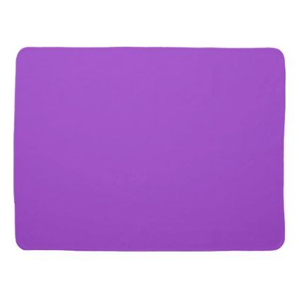 Crocus Purple Solid Color Stroller Blanket - modern gifts cyo gift ideas personalize