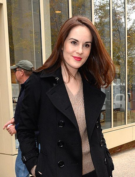 Michelle Dockery returns to work following death of fiancé John Dineen
