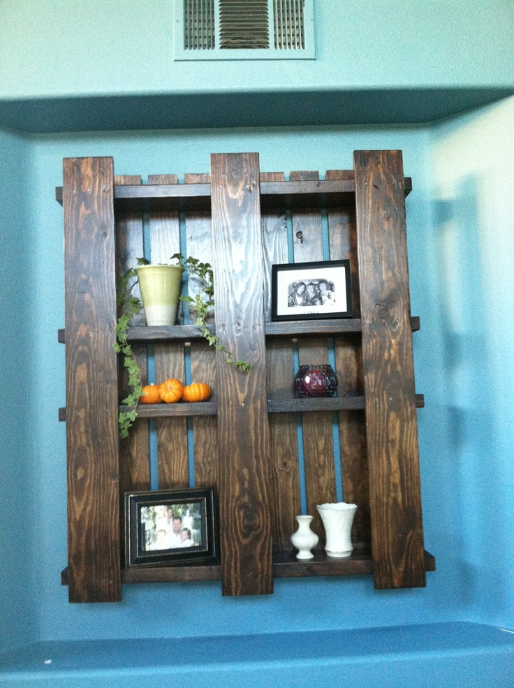 pallet wall unit home decor pinterest
