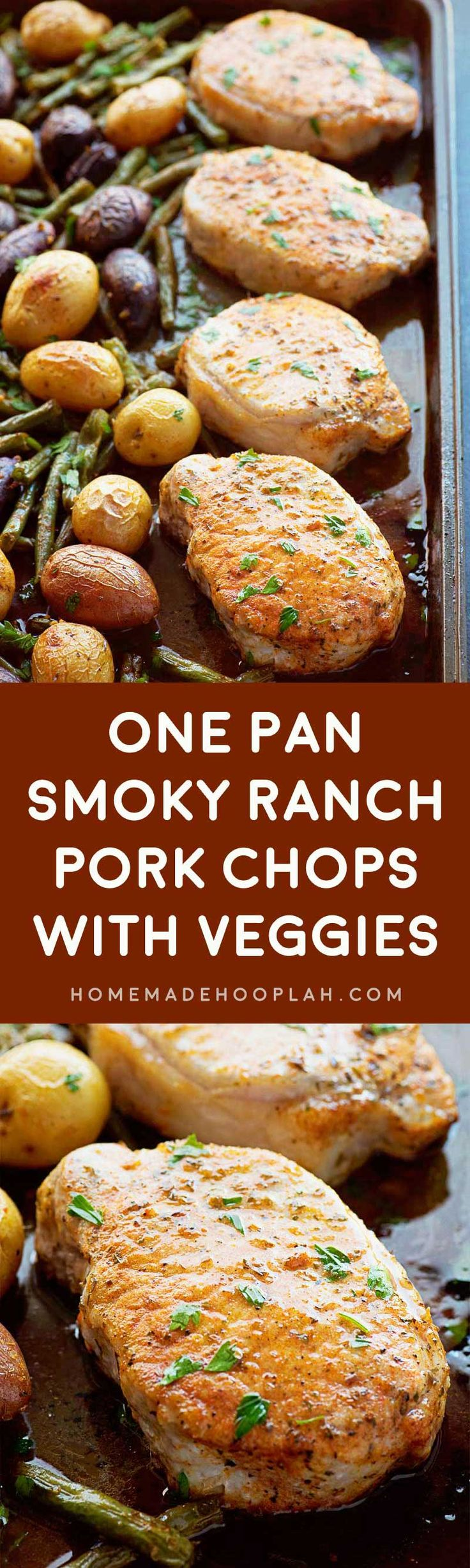 with Veggies! Savory ranch pork chops with a touch of smoked paprika ...
