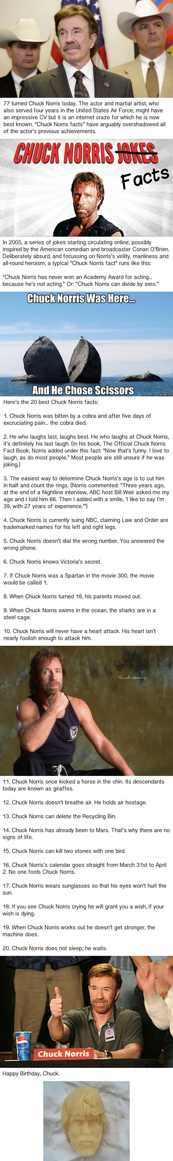 Happy Birthday To Chuck Norris, The Man Who Can Clap With One Hand - 9GAG