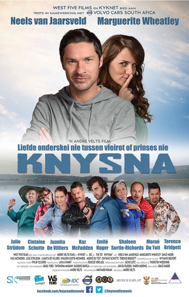 """NEWS: Knysna Movie Skyrockets! Bakkes Images is very proud to have created the poster for the successful West Five Film """"Knysna"""" that was released December 2014. In fact it is performing so well that is has been nominated for the Huisgenoot Tempo Awards currently running!"""
