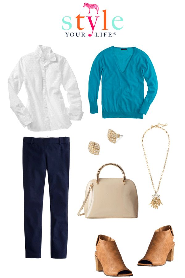 Style Your Life, Wardrobe Stylist, Personal Stylist : Summer into Fall Under $50 Transitional Wardrobe: Navy Pants Outfits