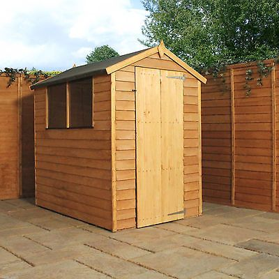 6x4 wooden overlap garden shed 6ft x 4ft apex roof sheds