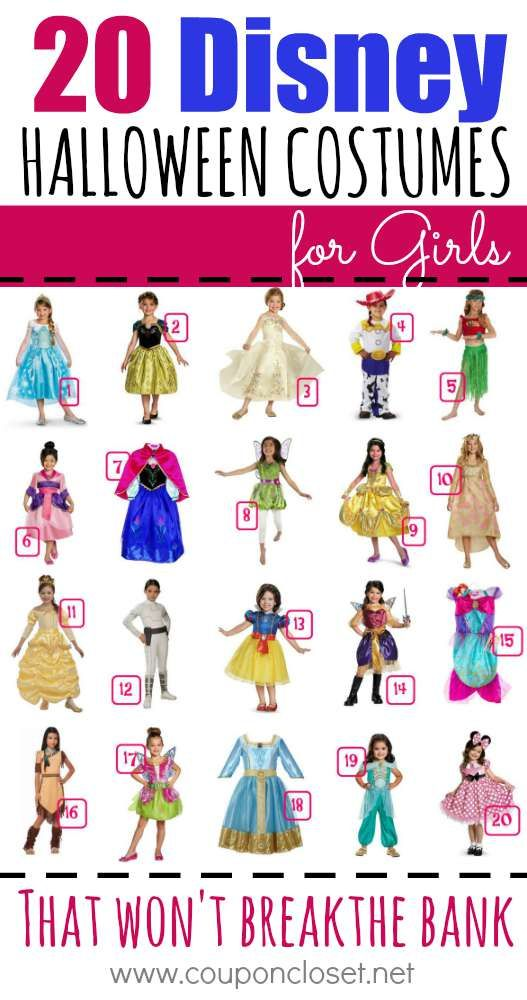 20 disney halloween costumes for girls for less as low as 779 - Kids Disney Halloween Costumes
