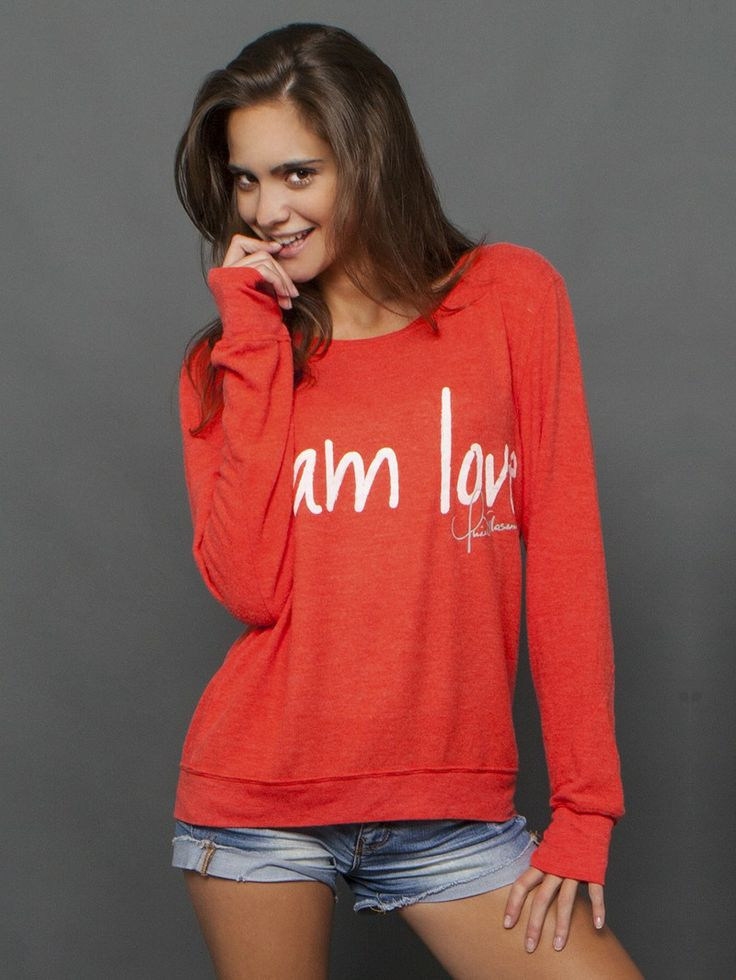 Be Perfection In The I Am Love Oversized Comfy Kt Poinciana Sweater Peaceloveworld