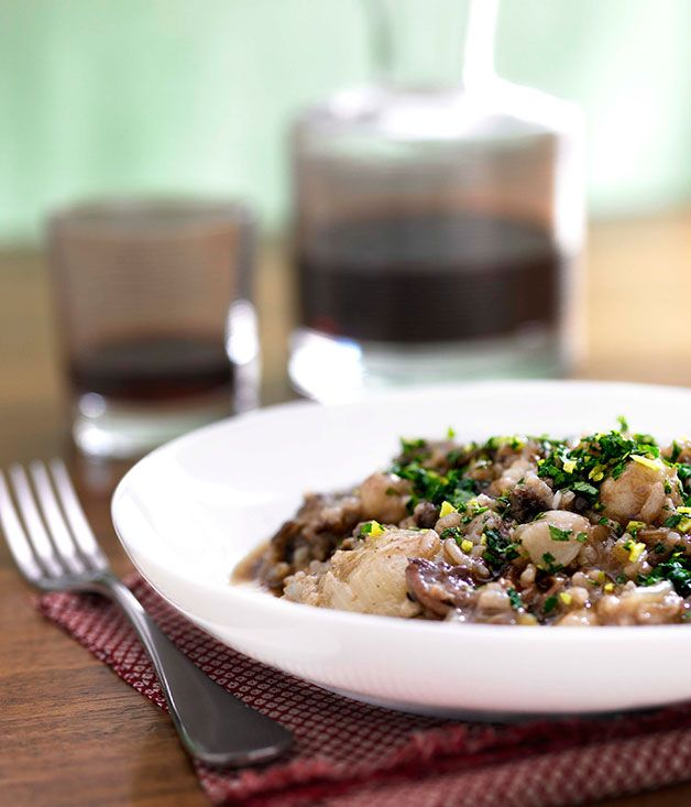 Oxtail risotto with Sangiovese Recipe