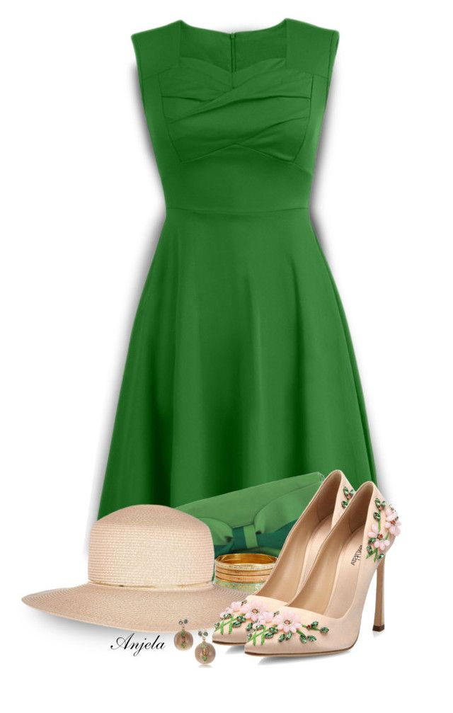 """""""Spring Greens"""" by anjelakewell ❤ liked on Polyvore featuring Chicnova Fashion, Kate Spade, Forever 21, River Island, Giambattista Valli and WearIt"""