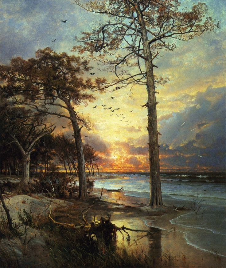 myfairynuffstuff:  William Trost Richards - At Atlantic City. 1877. Oil on canvas.  Posted from scintillatingquiddities.tumblr.com