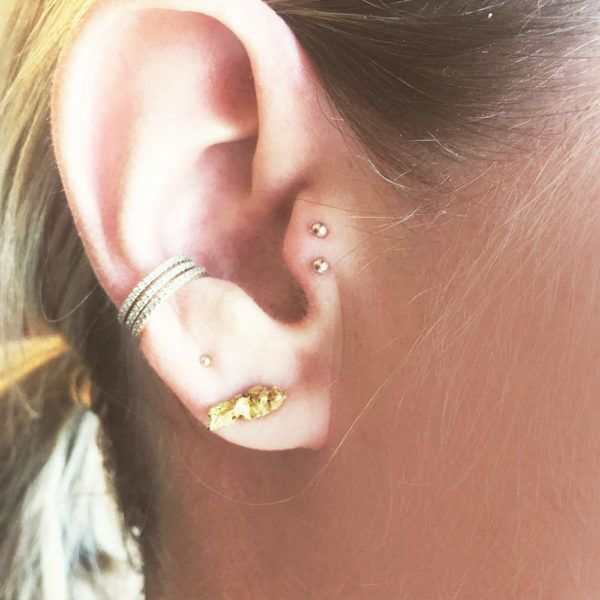 - Double lobe, double tragus and orbital.