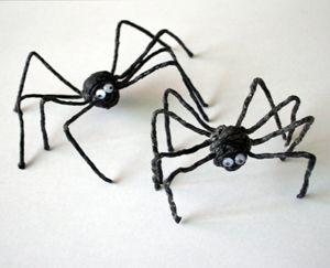 Spinne aus Wikki Stix basteln