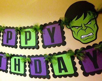 The Hulk Happy Birthday Banner