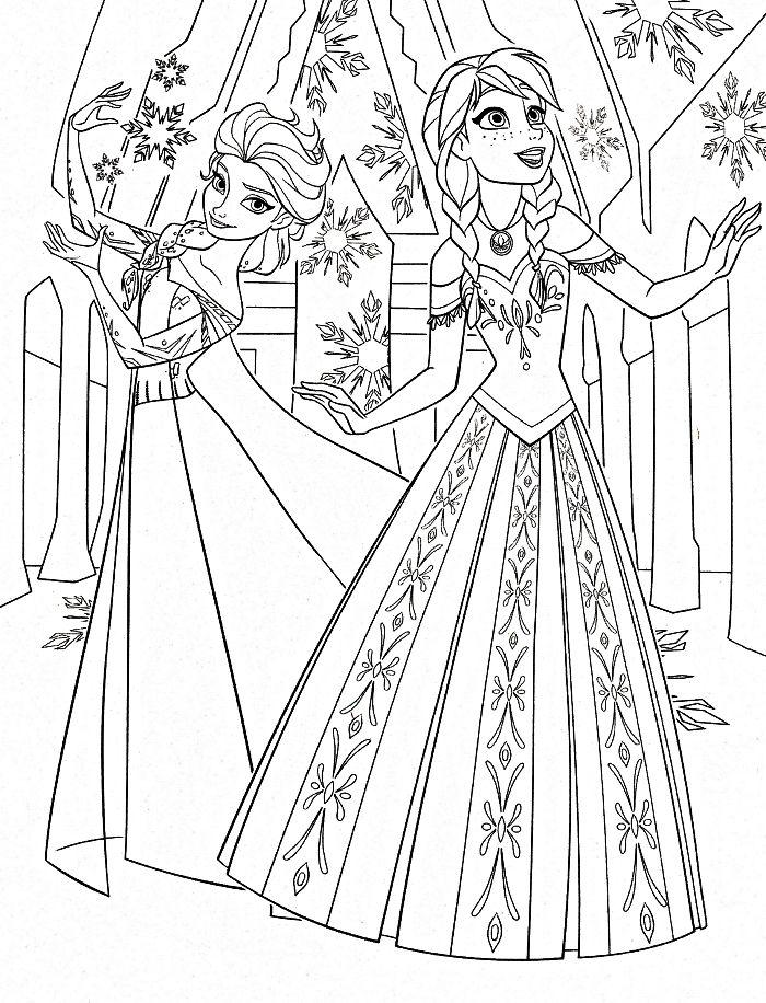 Coloriage A Imprimer La Reine Des Neiges