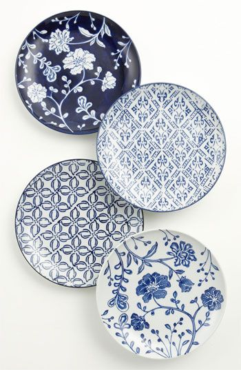 Vagabond Vintage Mixed Pattern Dessert Plates (Set of  sc 1 st  Pinterest & 55 best japan pattern images on Pinterest | Dishes Porcelain and ...