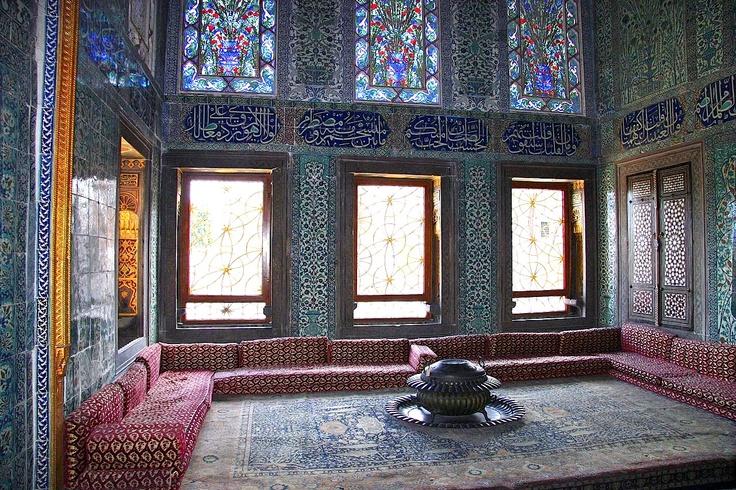 Istambul Topkapı Palace room.