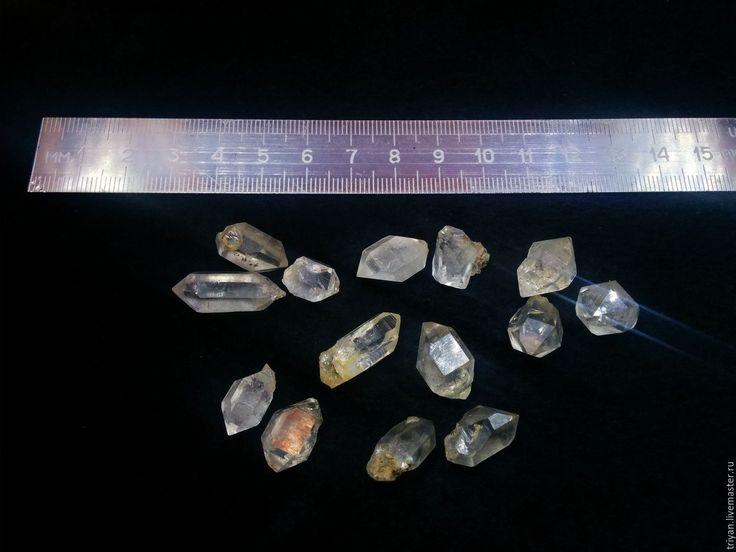 Купить Херкимерские алмазы - белый, херкимерские алмазы, природные алмазы, кристалл херкимера, херкимер