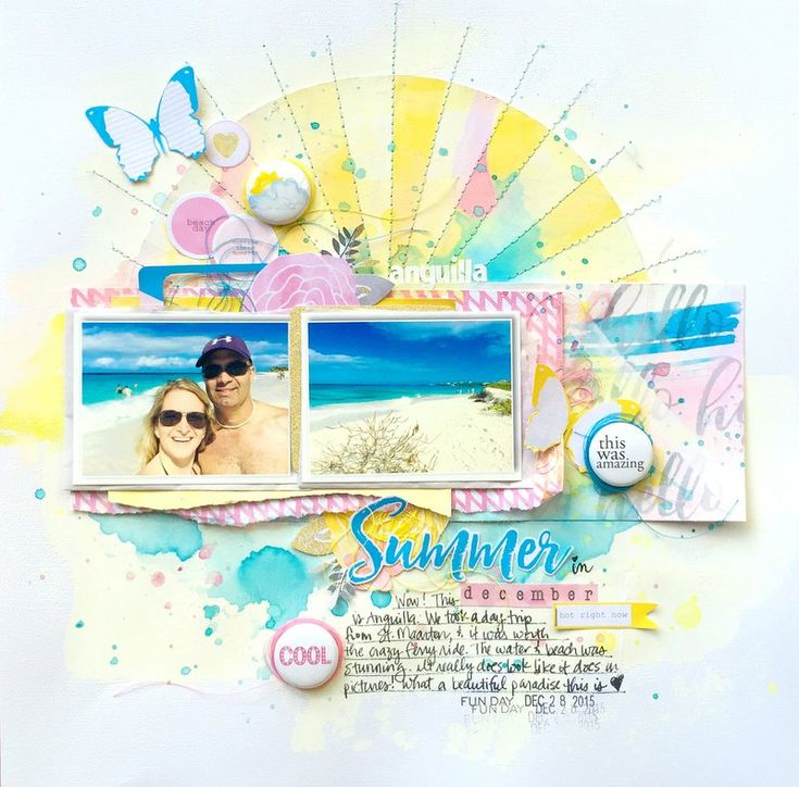 #papercraft #scrapbooking #layout - Claudia V