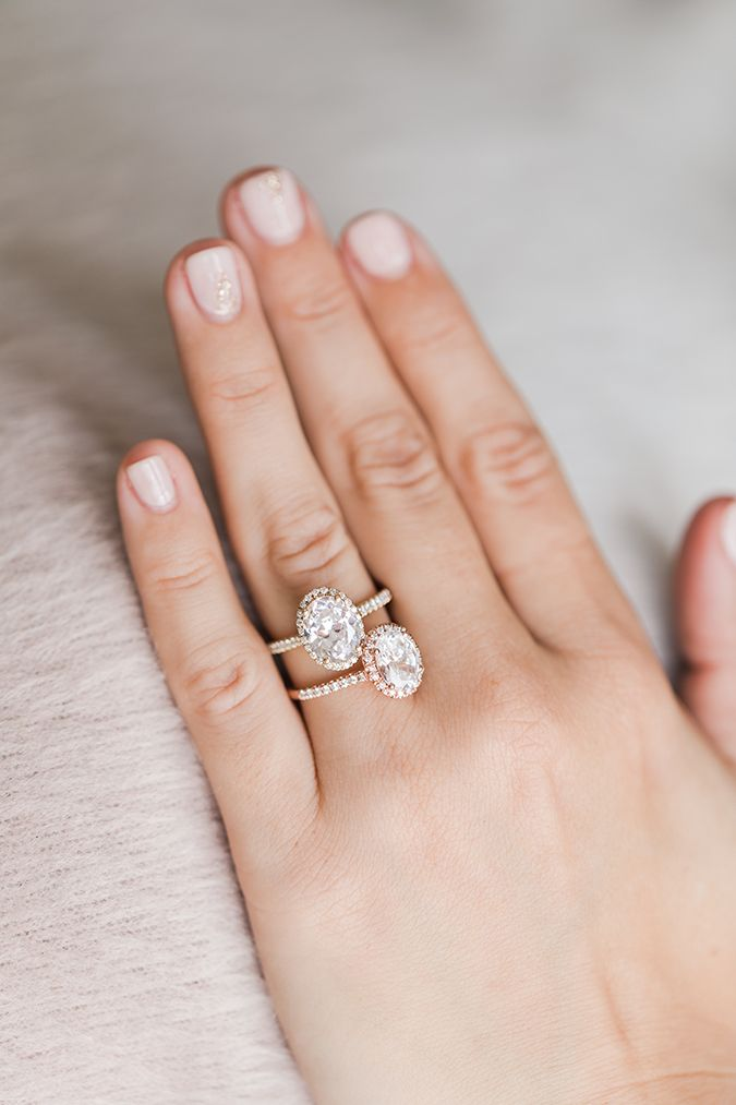 Yellow gold and rose gold James Allen engagement rings