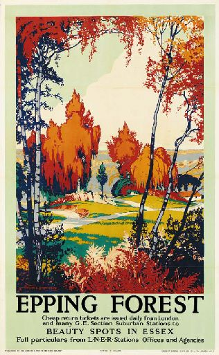 Epping Forest - Beauty spots in Essex - LNER - 1935 - (Walter Spradbery) -