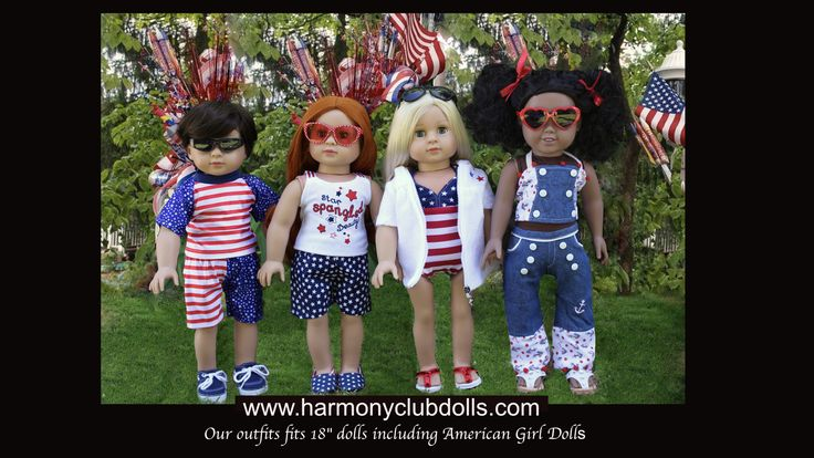 "See what is new for 18"" dolls at www.harmonyclubdolls.com Fits American Girl, Springfield and other 18"" dolls. Harmony Club Dolls"