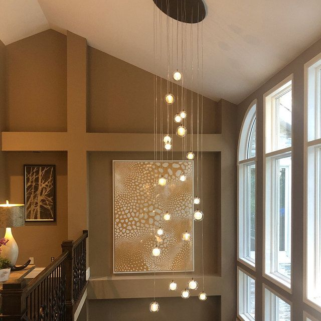 Modern Dining Chandelier Custom Light Pendants High Ceiling Pendant Lighting Contemporary Long Two Story Chandelier Modern Lighting Blown Glass Chandelier Glass Chandelier Blown Glass Lighting