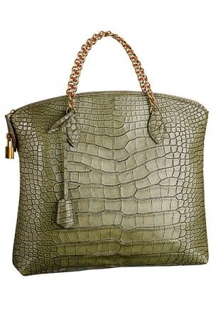 Louis Vuitton Vert Ecrin Lockit Chain Bag  #LouisVuitton #handbags