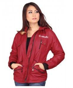 jaket wanita murah berbahan parasut warna merah | tokofobia.com toko fashion online murah dan berkualitas